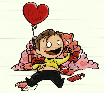 V-Day With Captain Kirk by WallyHindle