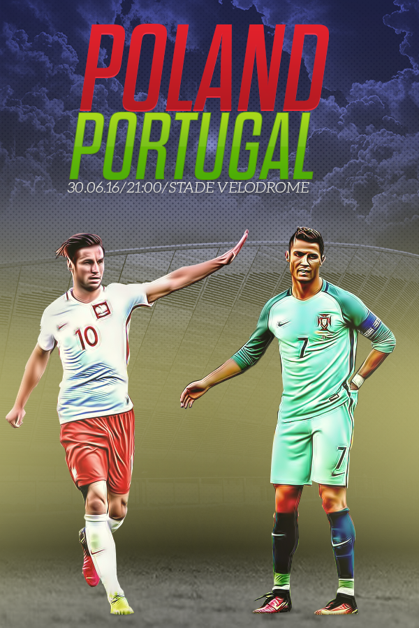 Poland Vs Portugal Euro  Poster By Vavohq