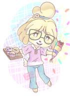 Isabelle - Animal Crossing [Glasses Ver.] by Samikleo