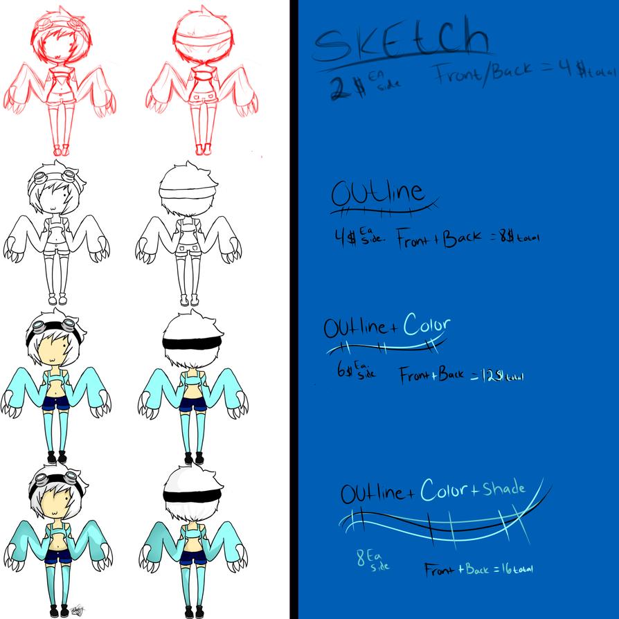 Commission sheet by xXTonyKunXx