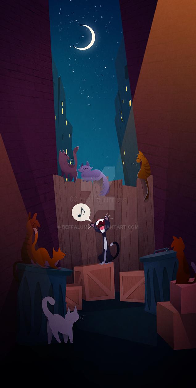 Cat Cabaret by beffalumps