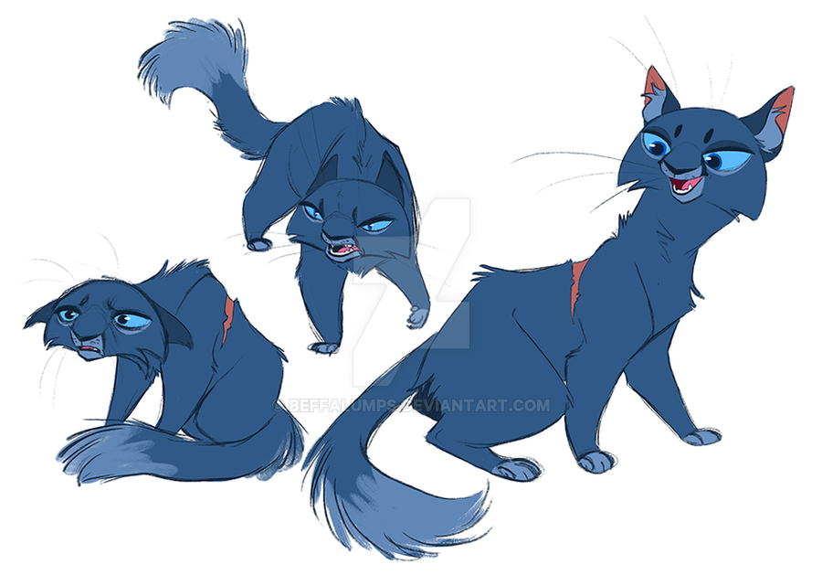 Bluestar by beffalumps on DeviantArt Warrior Cat Drawings Bluestar