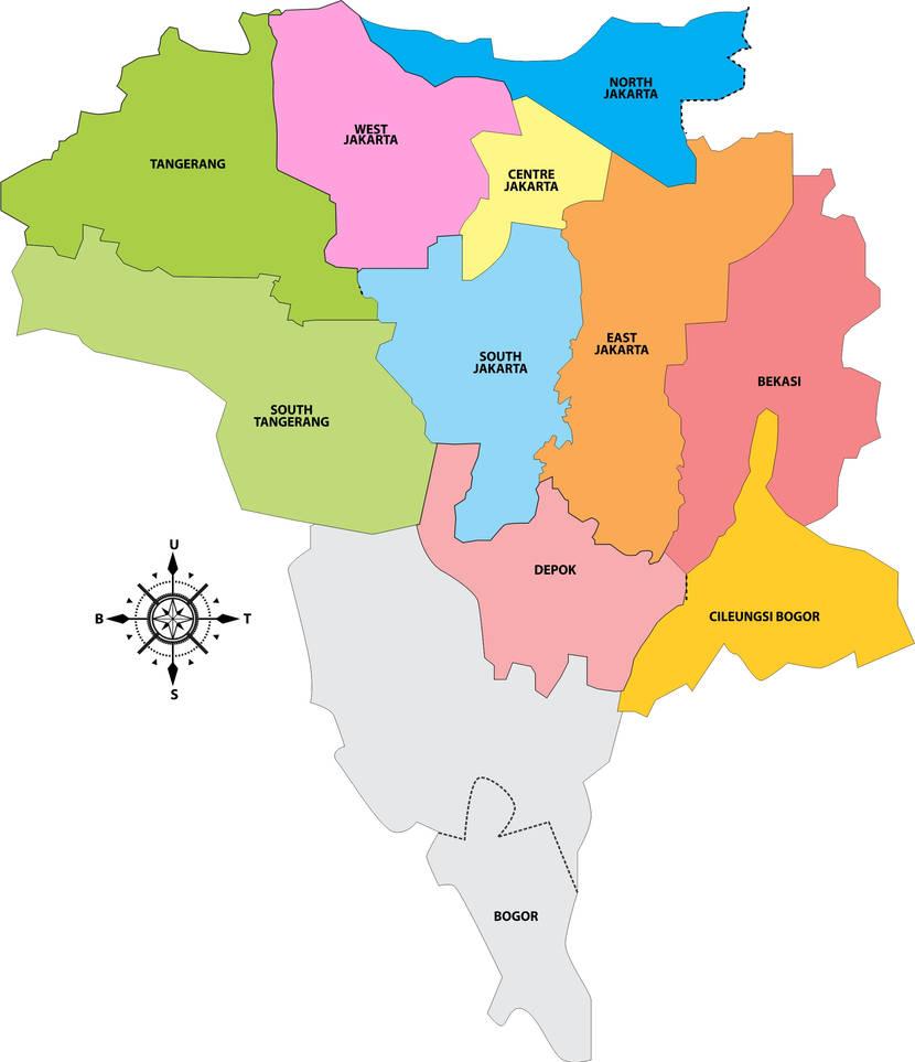 The Map of Jakarta by gerhanaku on DeviantArt North Jakarta Map on