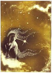 Unicorn Sepia Print by MiniBaah