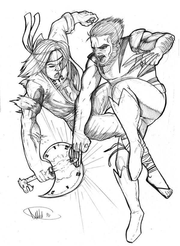 Wiro sableng vs Wolverine by Dekka-93