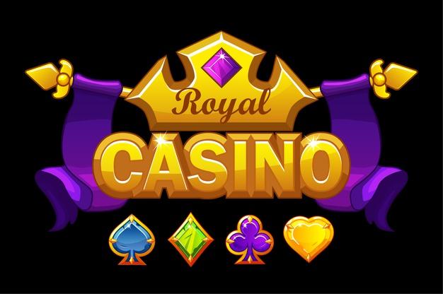 Casino-logo-with-golden-crown-treasure-royal-gambl