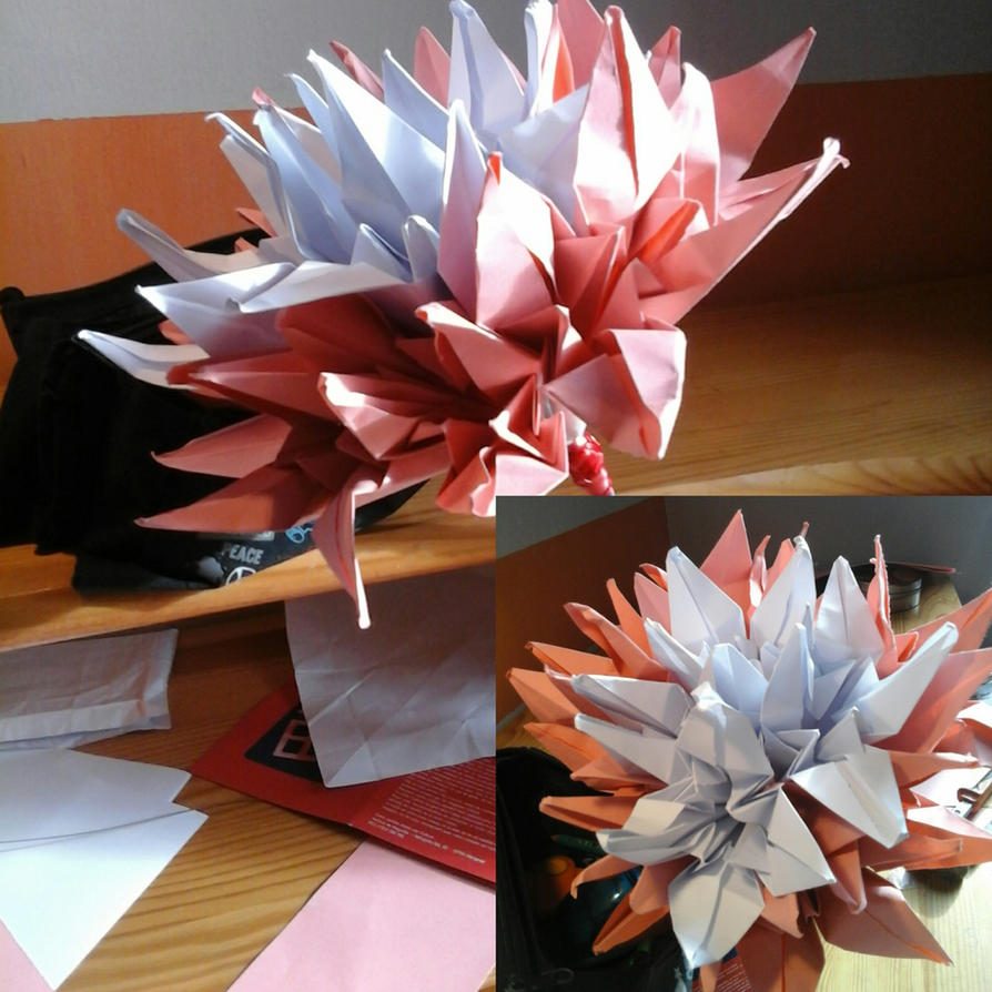 Hug origami deviantart for Bouquet de fleurs 2016