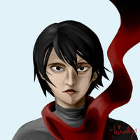 ATTACK ON TITAN MIKASA by kisulex