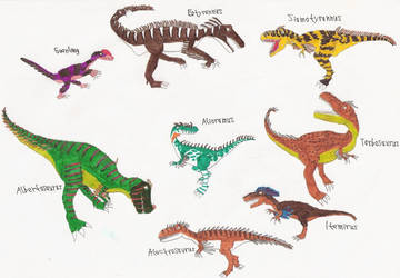 Some Tyrannosaurids