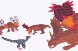 Ruff Ceratopsids by RickRaptor105