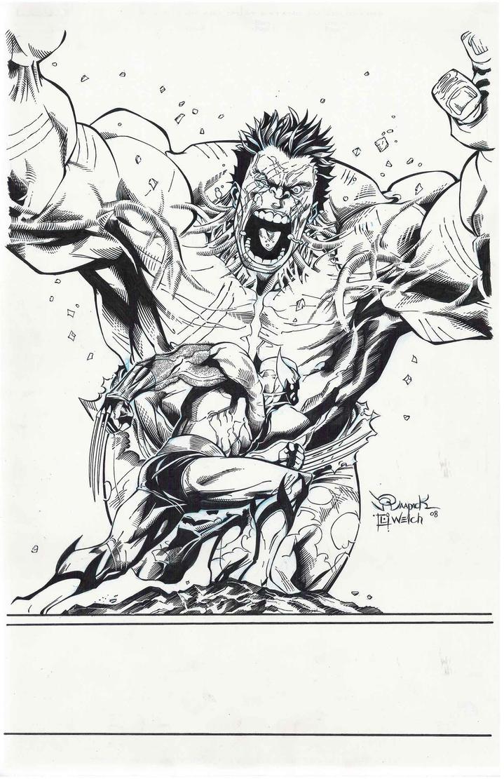 X-Men vs. Hulk by LarryWelch