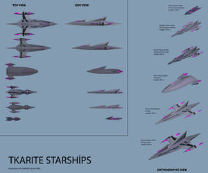 Tkarite Ships by SeekHim