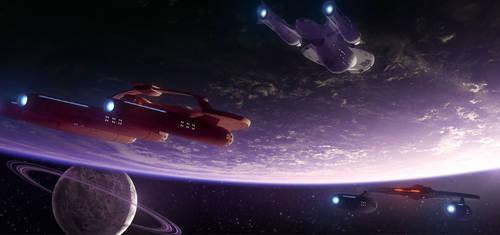 Approaching  Starbase 11 by SeekHim