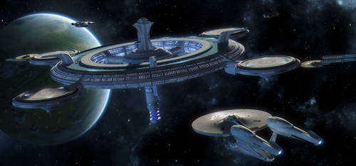 Enterprise arriving at Deep Space Station G-12 by SeekHim