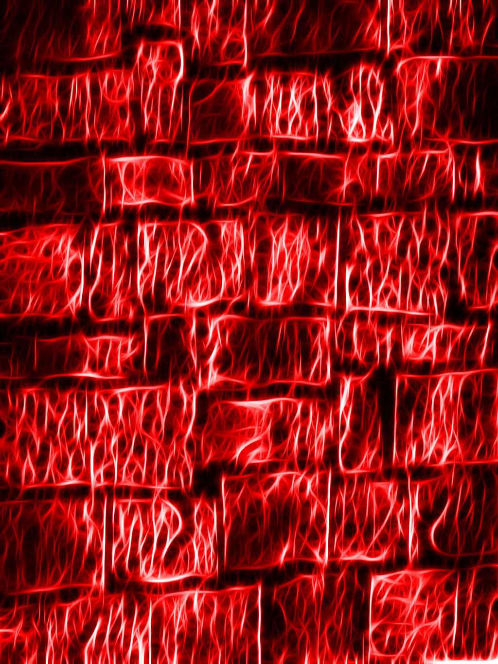 Red Fractalius Wall
