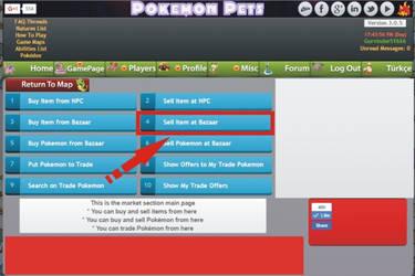 Pokemon pets sell  item at bazaar