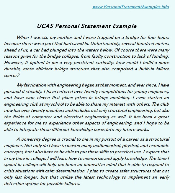 Ucas personal statement examples serves the basic by for Health and safety statement of intent template