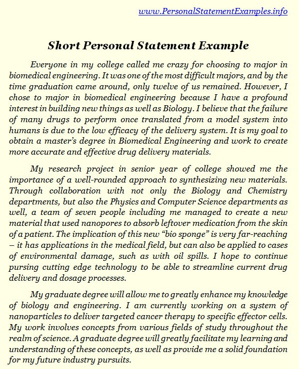 check out short personal statement examples by personalstatement