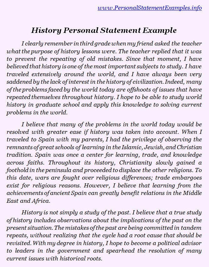 Best History Personal Statement Examples by personalstatement on – Personal Statement Template