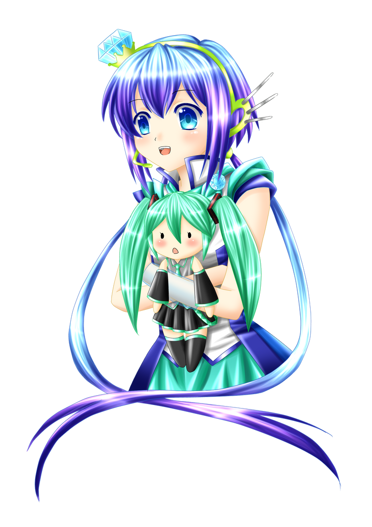 Aoki and Miku :3 by Villyane