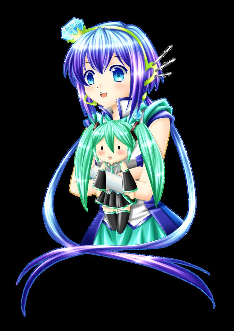 Aoki and Miku :3 by Villyane