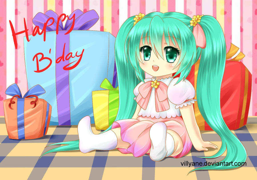 Happy B'day Miku by Villyane