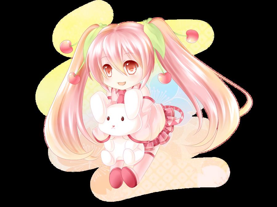 Sakura Miku :3 by Villyane
