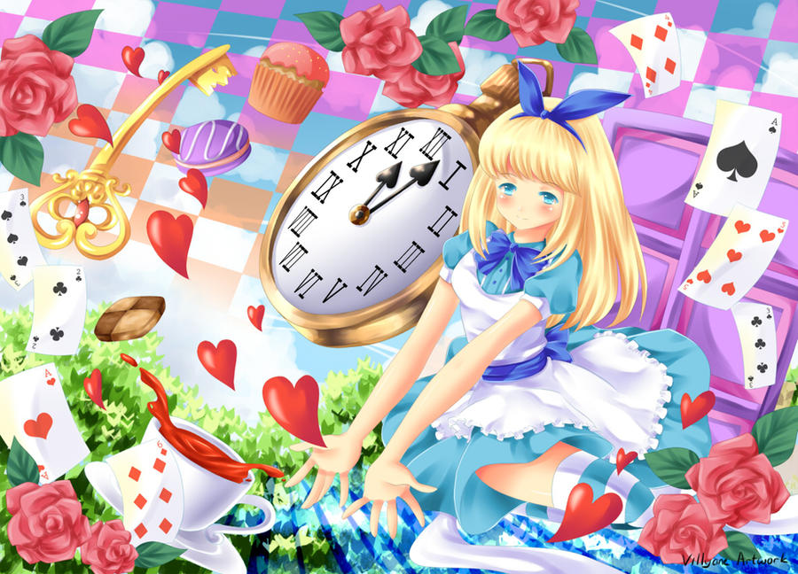 Alice in wonderland by Villyane