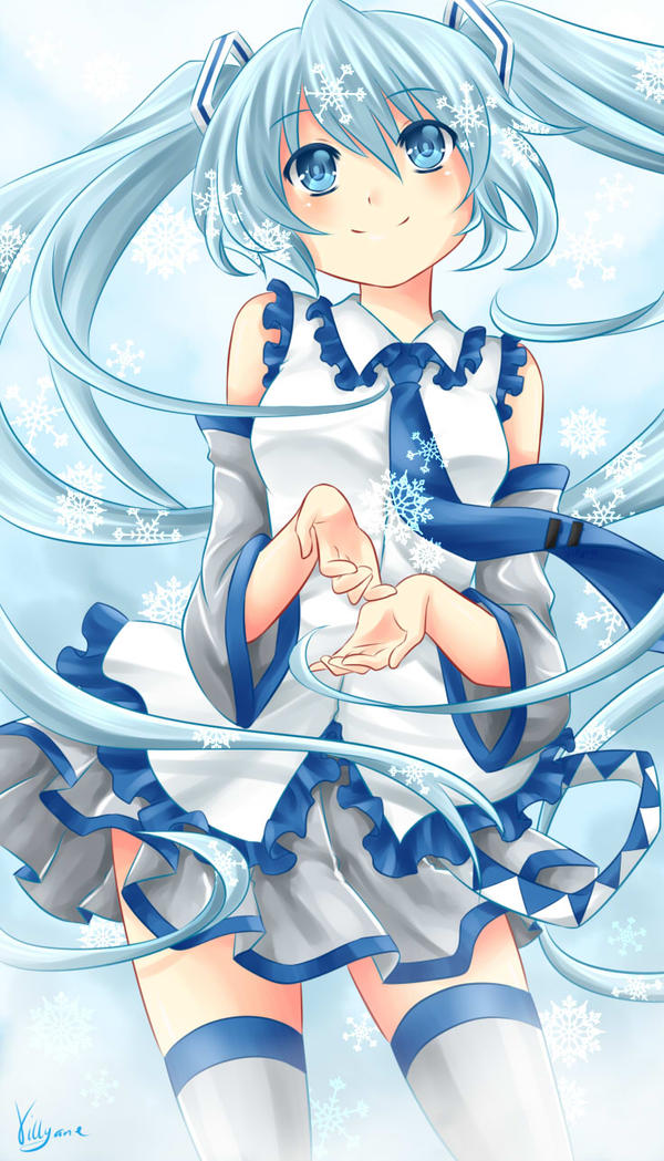 Snow Miku by Villyane