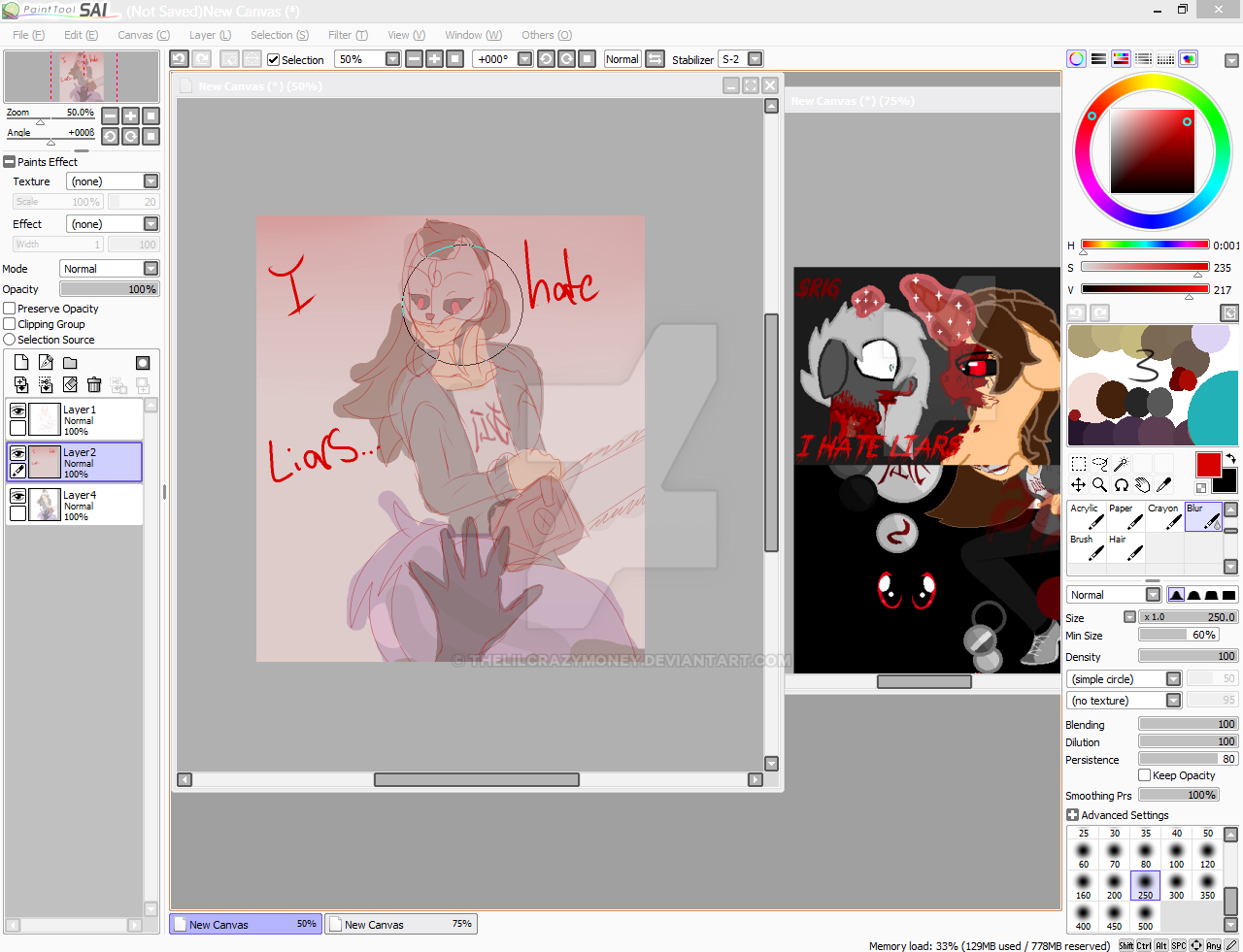 {WIP} I hate Liars by TheLILCrazyMoney on DeviantArt