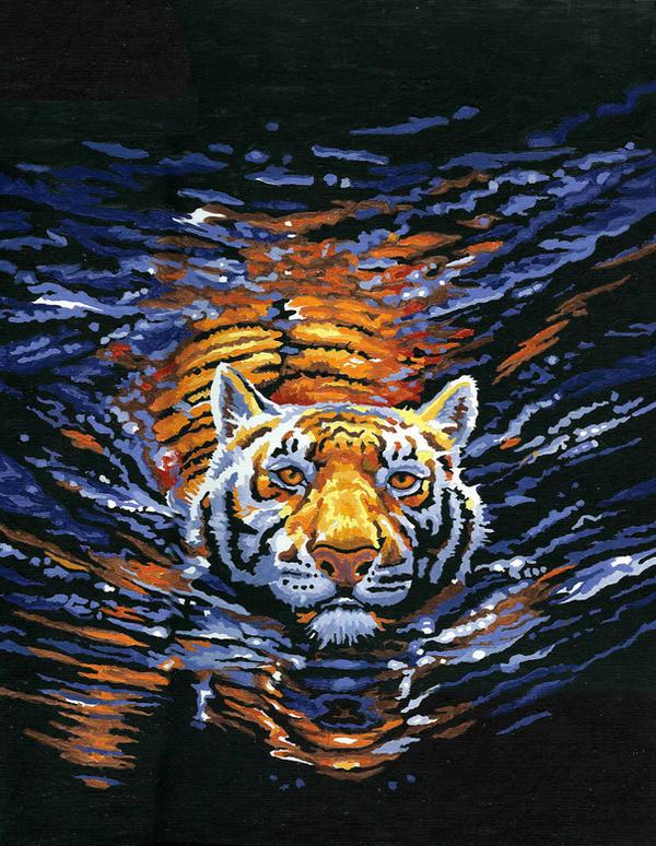 """Moonlit Swim"" by mancy157"