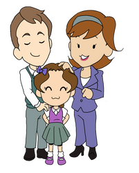 Parents and child by NoeMelian