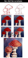 Red Spotted Toadstool Tutorial