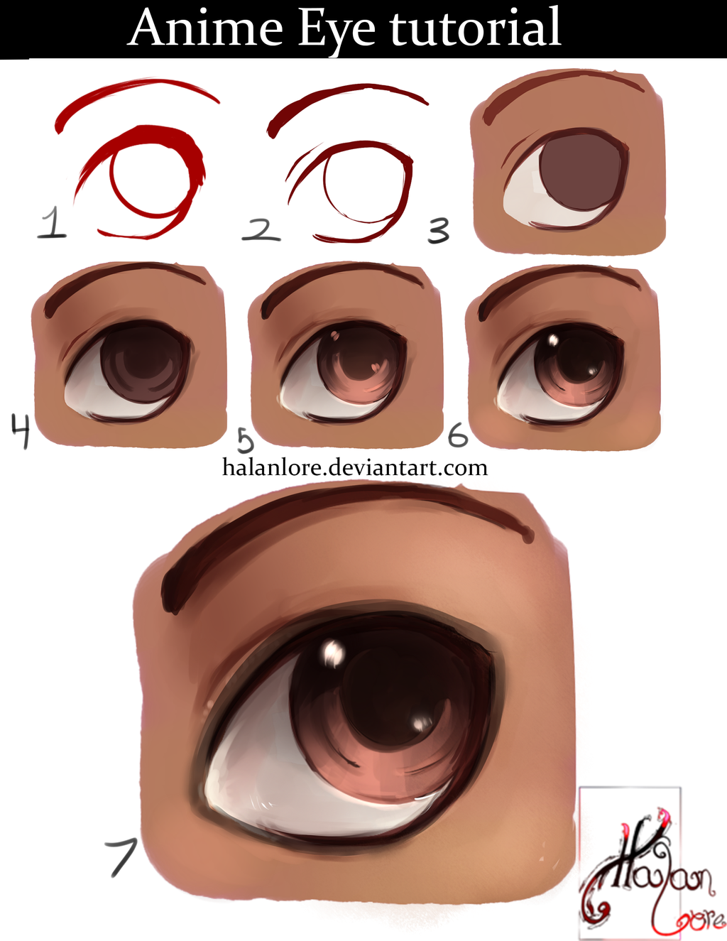 Lets Draw An Anime Eye By HalanLore