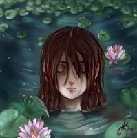 Noa in a Pond by HalanLore