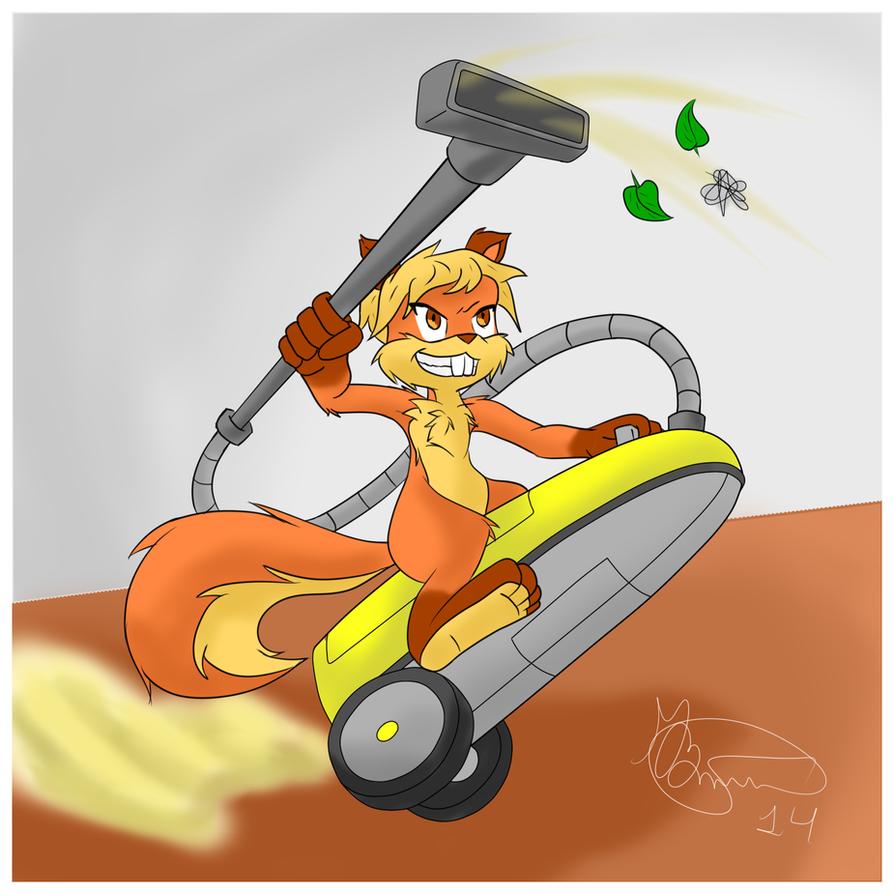 Hopping away by Fox-Hunter
