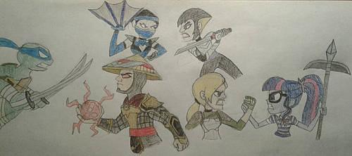 Ninjas vs Mortal Kombat by jebens1