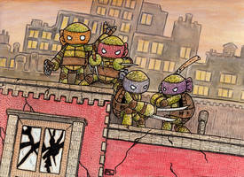 Yarn TMNT Issue 1 Cover by PedroLajud