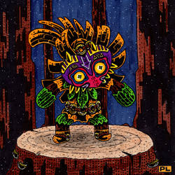 Yarn Skull Kid by PedroLajud