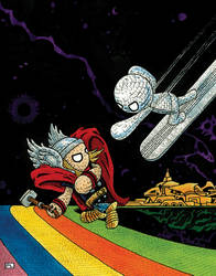 Yarn Thor vs. Silver Surfer  - SS #4 by PedroLajud