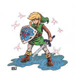 Link in a Fairy Fountain