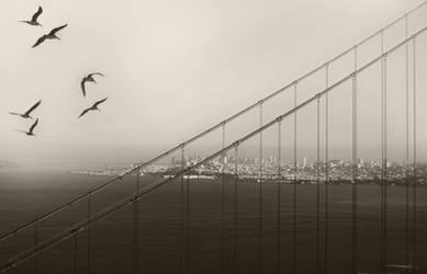 flying the golden gate by VaggelisFragiadakis