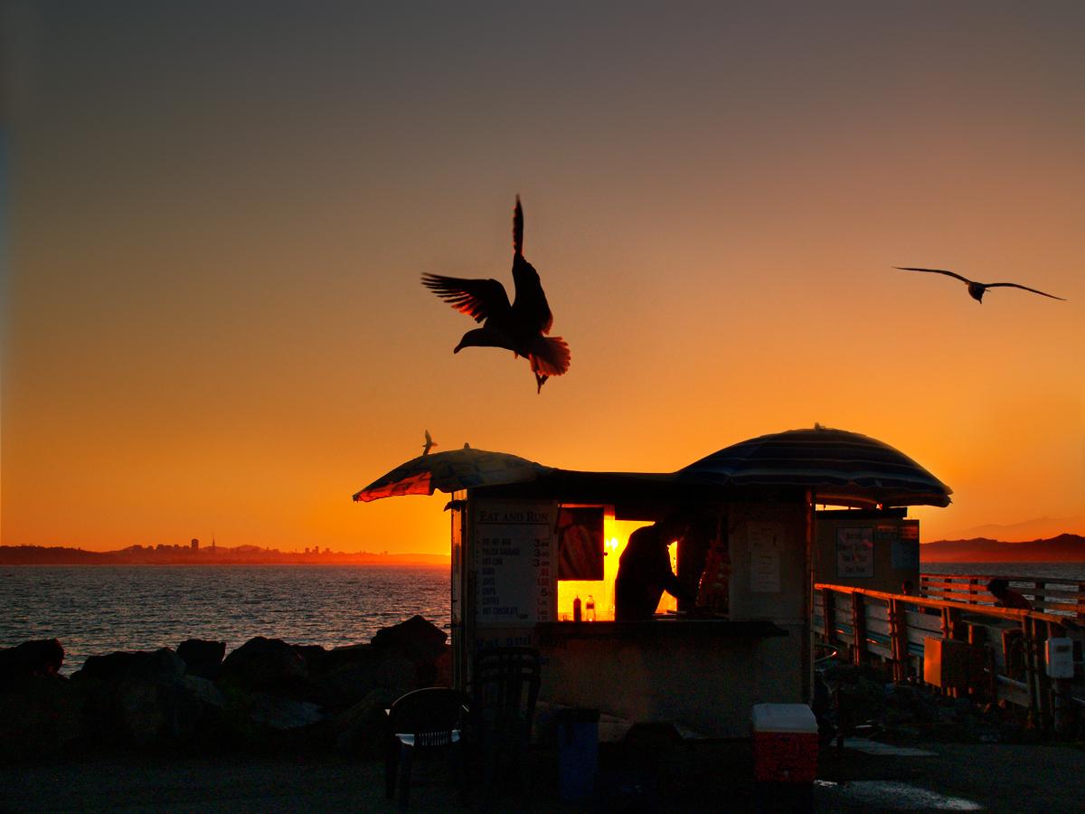 the sunset merchant by VaggelisFragiadakis