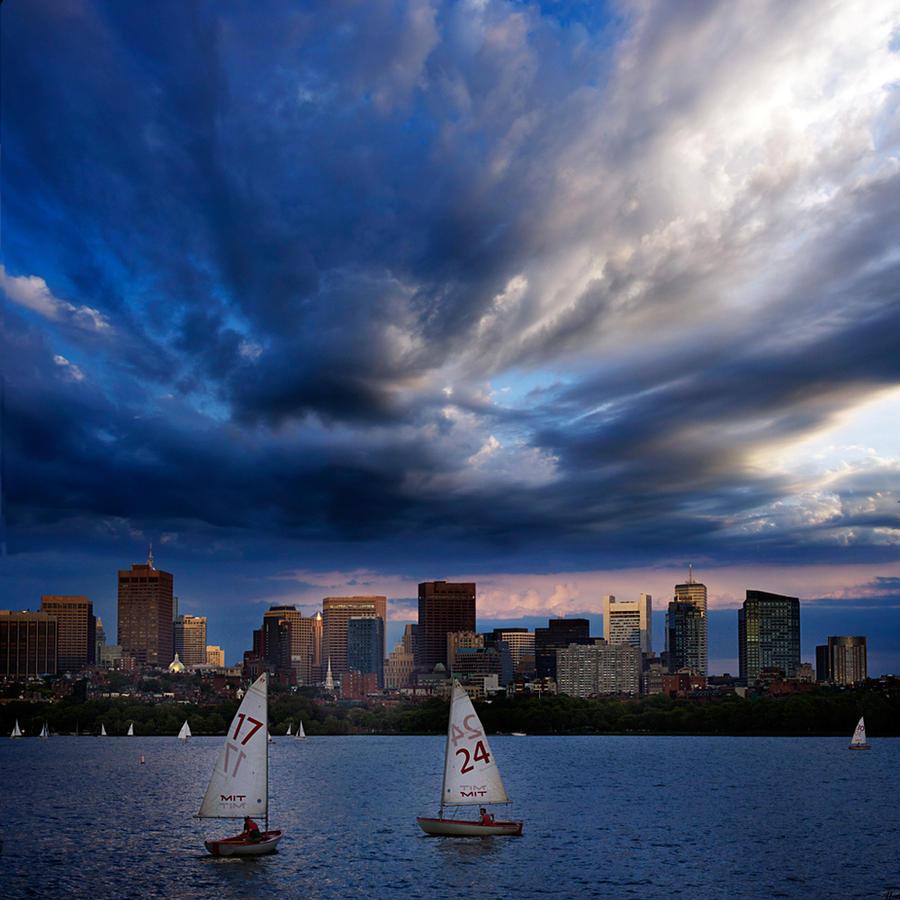 17... 24... the Boston skyline by VaggelisFragiadakis