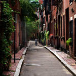 the alley on Beacon Hill...