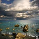 rocks, sea, sky......