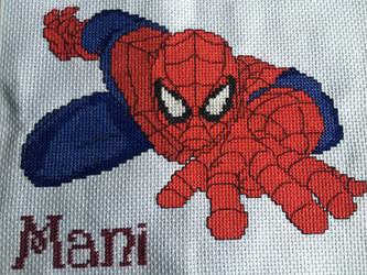 Spider Man Cross Stitch by velvet-curse
