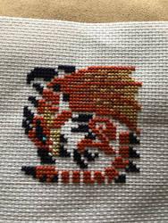 Rathalos Cross Stitch