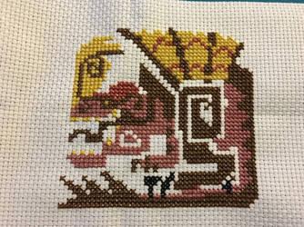 Anjanath Cross Stitch by velvet-curse