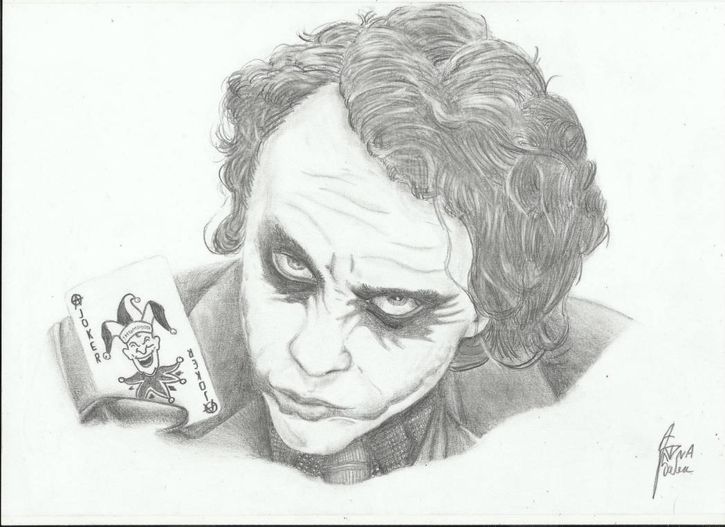 Joker pencil art by dawned55 on deviantart